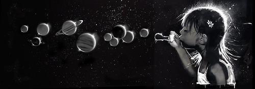 planets-earth-girl-bubbles